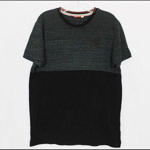 Puma Ferrari Black & Gray Short Sleeve Tee Size L